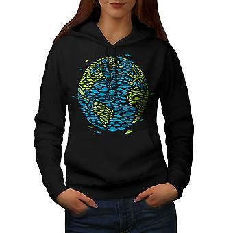 Earth Spaceship Space Women BlackHoodie | Wellcoda
