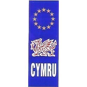 W4 Euro CYMRU/Wales Upright Plate Sticker