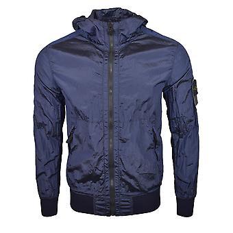Stone Island SS18 Navy Blue Nylon Metal Watro Hooded Jacket