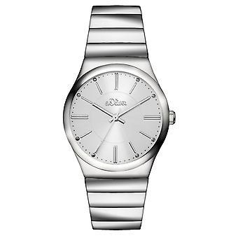 s.Oliver Damen-Armbanduhr Analog Quarz SO-15129-MQR