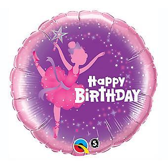 Qualatex födelsedagen Ballerina folie ballong 18 i