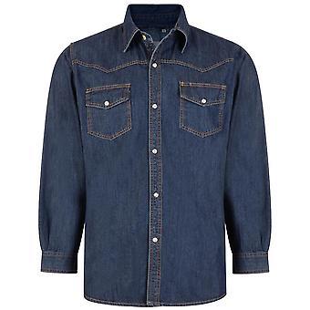 KAM 602 Long Sleeve Denim Shirt