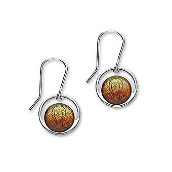 Sterling Silver Traditional Contemporary Astrology Zodiac Sign Design Pair of Earrings - EE572