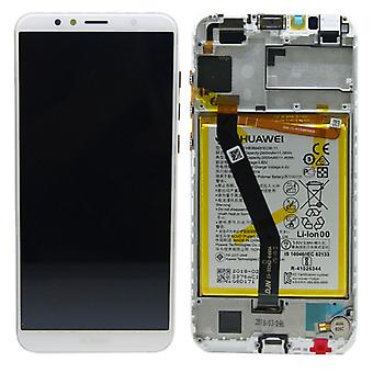 Huawei display LCD unit + 2018 Service Pack 02351WLK white frame for Y6 new