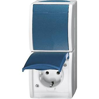 Busch-Jaeger 2601/6/20 EW-53 Wet room switch product range Switch/socket combo Ocean (surface-mount) Blue, Green