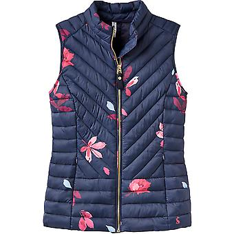 Joules Womens/Ladies Brindly Print Upfill Quilted Gilet Bodywarmer