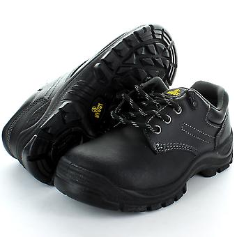 Amblers Steel FS87 Black 3 Eyelet Safety Toe Cap Shoe