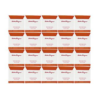 Salvatore Ferragamo Tuscan Soul  Soap 1.0oz/30g ,each New In Box (Pack of 20)