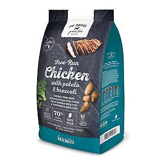 Les moulins rouges aller nourriture sèche pour chiens indigènes de pommes de terre/poulet/brocolis Grainless 4kg