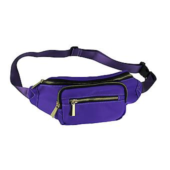 Nylon Canvas Fanny Pack with Hidden Pocket