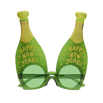 Lunettes de bouteille de champagne nouvel an