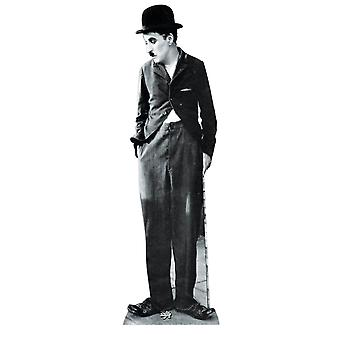 Charlie Chaplin grandeur nature en carton Découpe / Standee