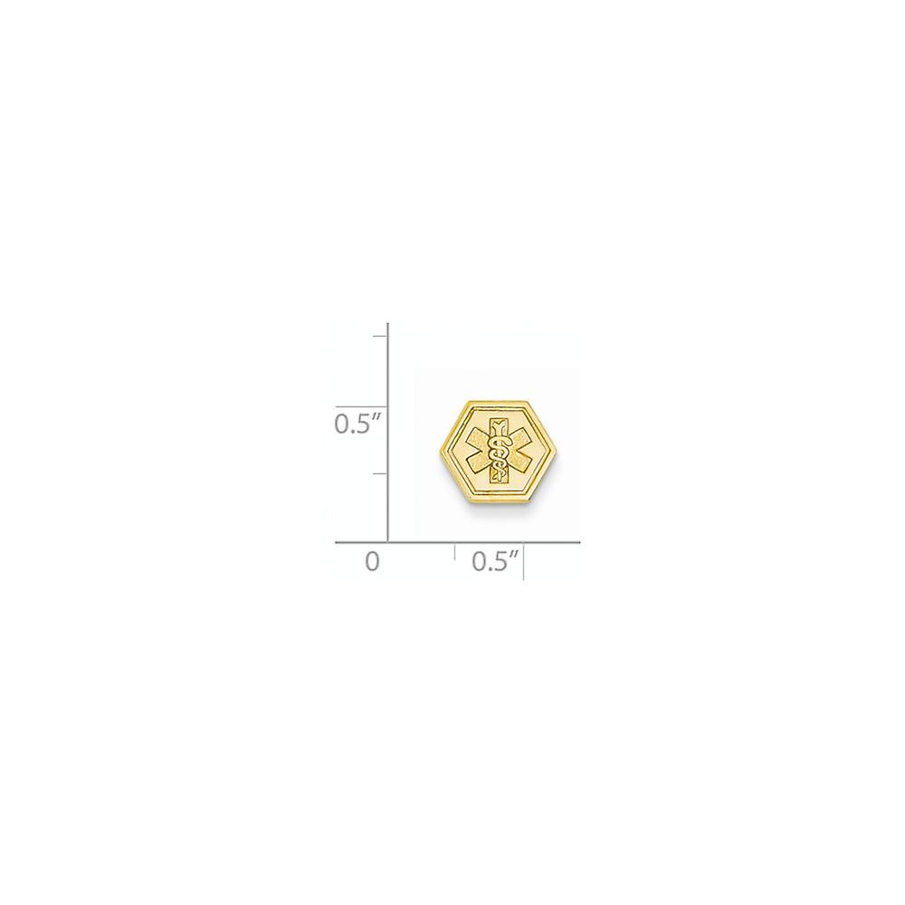 14k Yellow Gold Solid Polished Engravable Non enameled Attachable Medical Emblem Charm Pendant Necklace Jewelry Gifts fo