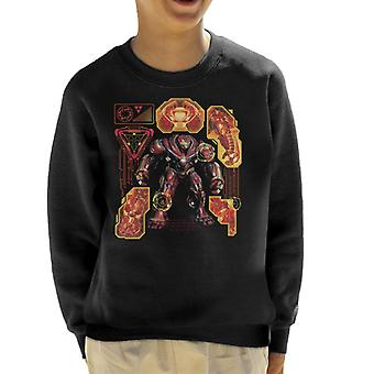 Marvel Avengers Infinity War Hulkbuster Technical Kid's Sweatshirt