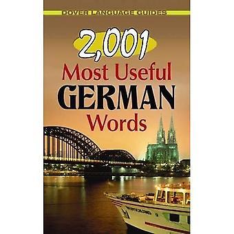 2,001 eniten hyötyä sanat (Dover kieli oppaat saksaksi)