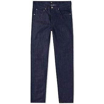 Edwin Blue Rinsed ED-55 Kingston Blue Denim Regular Tapered Jean