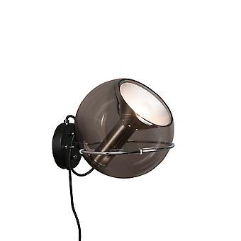 QAZQA Wand Lampe Strike schwarz