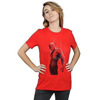 Marvel Women's Spider-Man Web Wrap Boyfriend Fit T-Shirt