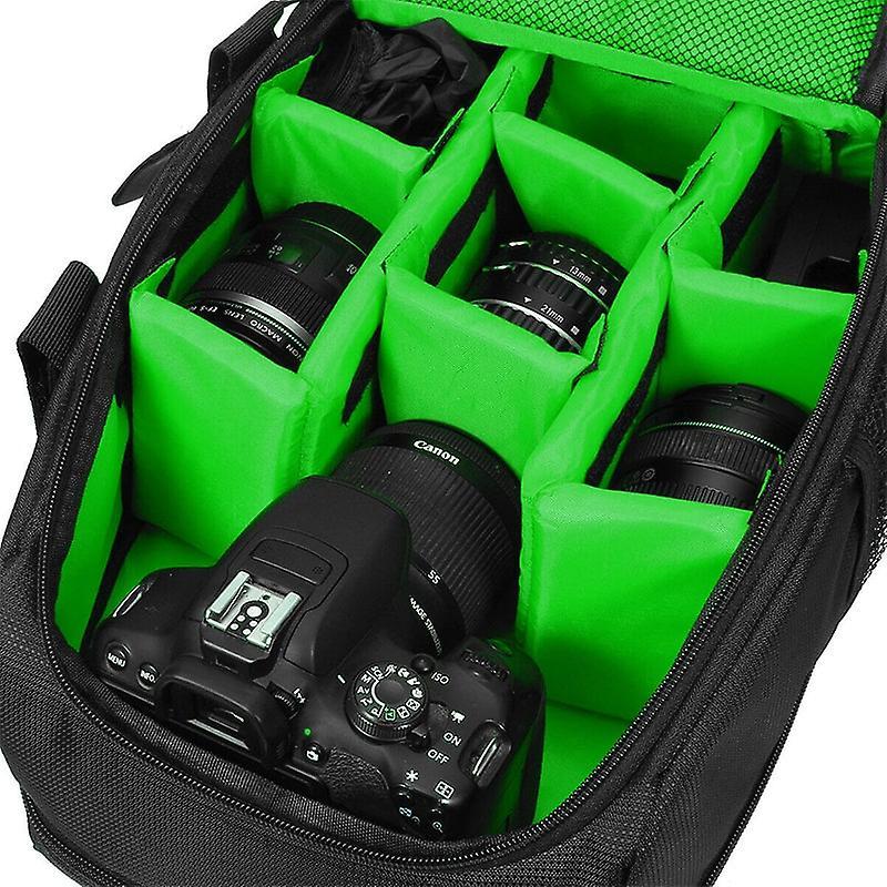 Rymlig Kameraväska med regnskydd, Grön