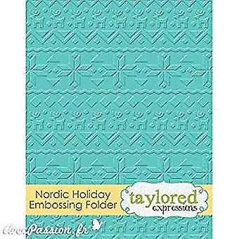 Taylored Expressions Nordic Holiday Embossing Folder