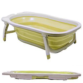Baby - näyttävä muovi taitto kansi pois vauvan kylpyamme - valkoinen / Lemon