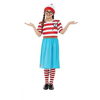 Wo ist Wally? Wenda Kinderkostüm Mädchen Karneval Where's Wally? Deluxe Costume
