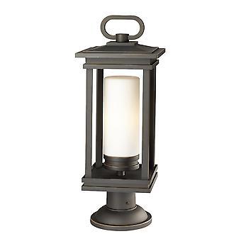 Elstead - 1 Light Large Pedestal - Rubbed Bronze Finish - KL/SOUTH HOPE3/L
