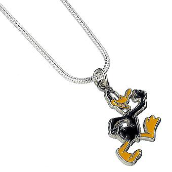 Looney Tunes Silver Plated Daffy Duck Necklace