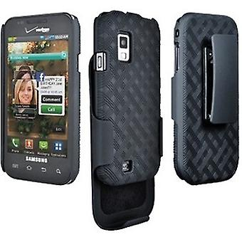 Verizon Rubberized Shell Holster Combo for Samsung Fascinate SCH-i500 (Black) (Bulk Packaging)