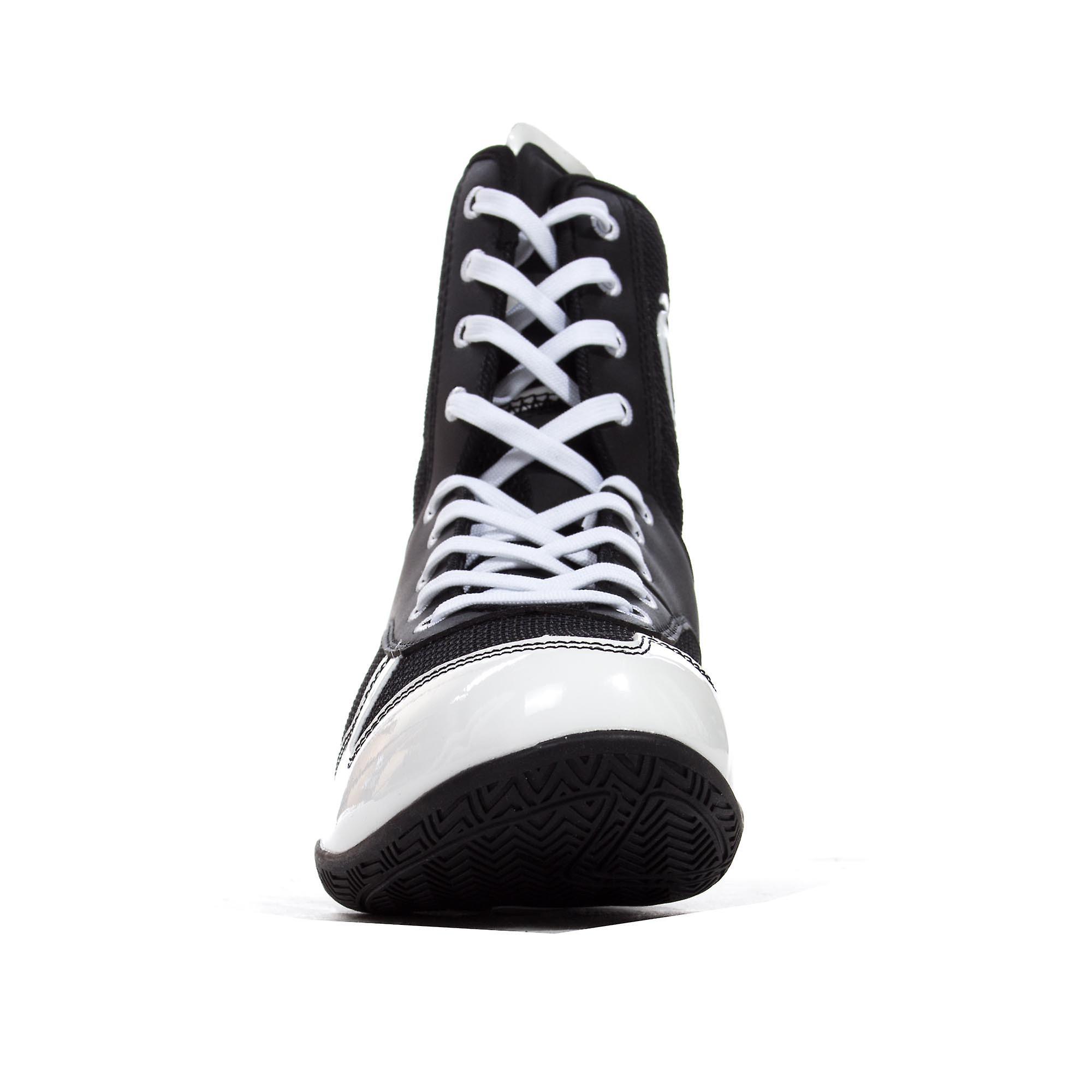 Venum Elite Mens Fitness Training MMA Boxing Boot Shoe Black/White