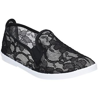 Flossy Womens Bimba dentelle détail Slip on Casual Shoes