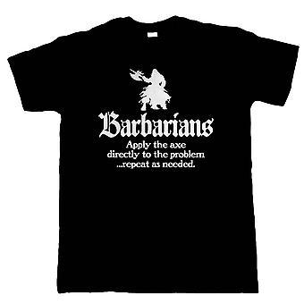 Barbarer, Mens T-Shirt - Geek Hobbies DND D & D Gift honom födelsedag