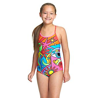 Zoggs Celebrate Bella Crossback Swimwear For Girls