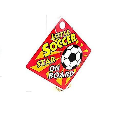 Baby Car Sign - Little Soccer Star On Board