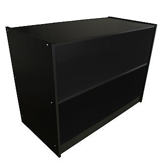 Retail Shop Counter Till Block Display Storage Cabinet Shelves Black A1200