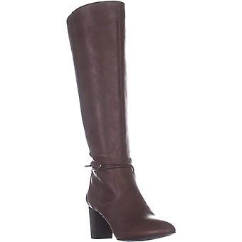 A35 Giliann Wide Calf Knee High Boots, Cognac, 10 US