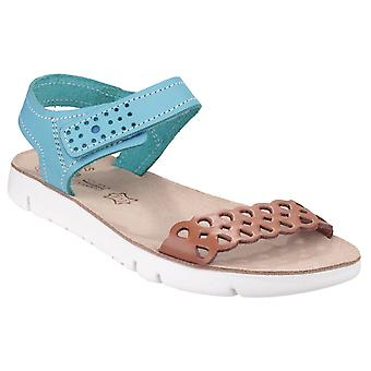 Fantasy Womens Agios Ladies Summer Sandal Tan/Blue