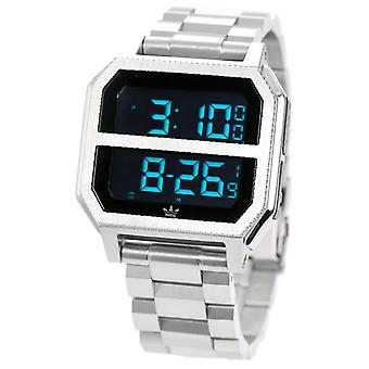 Adidas archive mr2 Quartz Digital Men's Watch with Z211920-00 Stainless Steel Bracelet