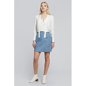 Louche Remi Stripe Chambray saia Panelled Chambray