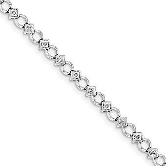 925 Sterling Silber poliert Rhodium vergoldet Hummer Kralle Verschluss Diamant Armband Schmuck Geschenke für Frauen