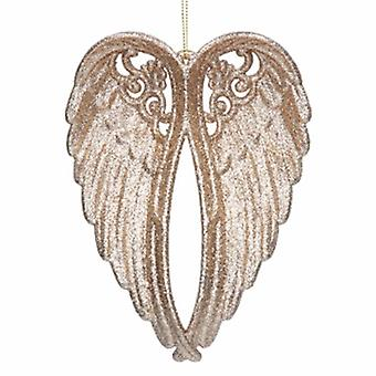 Gisela Graham Gold Glitter Wings Decoration|Gifts From Handpicked