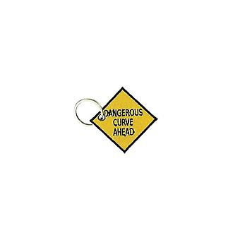 Cle Cles Key Brode Patch Ecusson Biker Morale Dangerous Curved Ahead Door