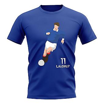 Brian Laudrup Rangers Player Graphic T-Shirt (Blue)
