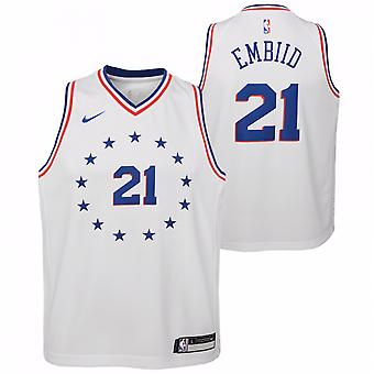 Nike Nba Philadelphia 76ers Joel Embiid Jugend Swingman Jersey - City Edition