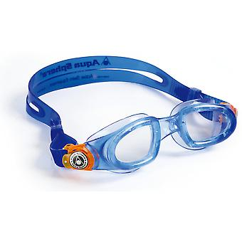 Aqua Sphere Moby Junior Swimming Goggle - Clear Lenses - Blue