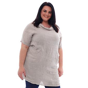 Made In Italy Kelly Premium Washed Linen Tunic