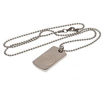Manchester City FC Engraved Dog Tag and Chain