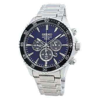 Seiko Solar SSC445 SSC445P1 SSC445P Chronograph Quartz Men's Watch