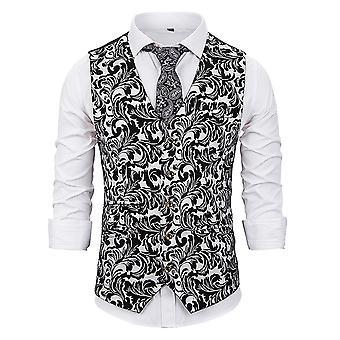 Alltnemen miesten ' s muoti upea kuviollinen V-kaula kuviollinen puku liivi