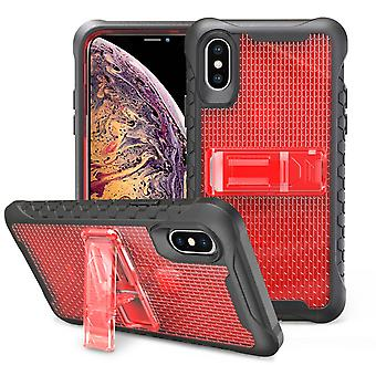 Nid d'abeilles rouge pour l'iPhone XS MAX Case,Armour Phone Cover,KickStand